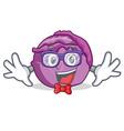 geek red cabbage character cartoon vector image vector image