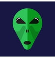 Green cartoon aliens head isolated vector image vector image