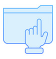 hand on folder flat icon folder with arm blue vector image vector image