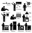 home house basic electronic appliances stick vector image