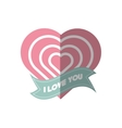 i love you greeting heart style shadow vector image