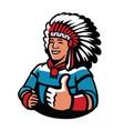 indian chief symbol warrior mascot vector image vector image