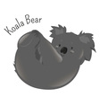 Koala bear isolated on white background vector image vector image
