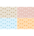 light color patterns with birds - seamless set vector image