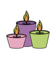 lit candles icon image vector image vector image