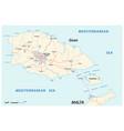 map maltese islands gozo and comino vector image vector image