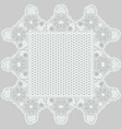 mesh lace napkin with tracery flowers on a gray vector image vector image