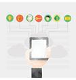 Modern flat design of online communication a vector image vector image