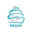 modern sky cake logo vector image vector image