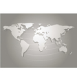 paper cut world map white and grey abstract vector image vector image