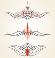 pinstriping ornaments set set vector image vector image