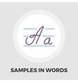 Samples in words icon flat vector image
