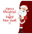 santa claus with christmas wishes vector image