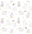 seamless pattern cats vector image vector image