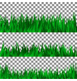 set green grass template design vector image