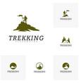 set of climber logo template outdoor activity vector image vector image