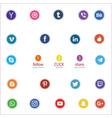 social media icons victor vector image