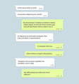social network chat window speech bubble with text vector image vector image