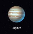 solar system object jupiter vector image