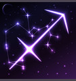 space symbol of sagittarius of zodiac and vector image vector image