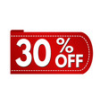 special offer 30 off banner design vector image vector image