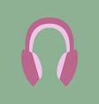 technology gadget in flat design headphones stereo vector image vector image