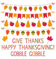 thanksgiving decoration set vector image vector image