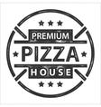 Vintage pizza logo stamp vector image