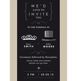 Wedding invitation mr and mrs theme vector image vector image