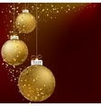 Christmas ball golden snowflakes EPS10 vector image