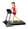 woman on a treadmill vector image