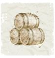 hand drawn wooden barrels