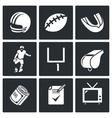 Football Icons Set vector image