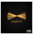 spaghetti pasta logo design background vector image