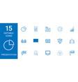 15 presentation icons vector image vector image