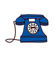 A view of dial telephone vector image vector image