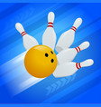 abstract background bowling pins and ball vector image vector image