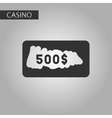 Black and white style scratch card