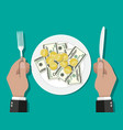 business lunch concept vector image vector image