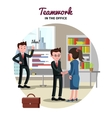 Business Partnership Template vector image vector image