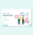 business with china strategic partnership vector image vector image