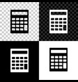 calculator icon isolated on black white and vector image vector image