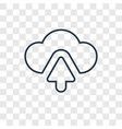 cloud computing concept linear icon isolated on vector image