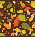 Colorful autumn seamless pattern flat