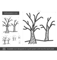 Deforestation line icon vector image vector image