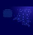 democratic republic congo map of polygonal mosaic vector image vector image
