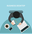 design of person working in office vector image vector image