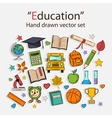 Education hand drawn set vector image