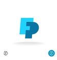 F and P letters logo vector image