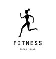 Fitness girl label vector image vector image